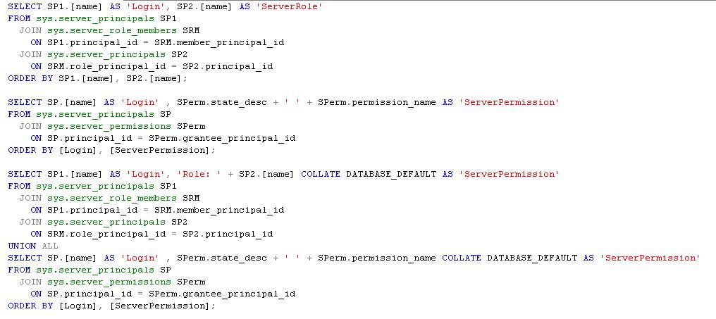 Auditoría de permisos y Roles del servidor (SQL Server ...